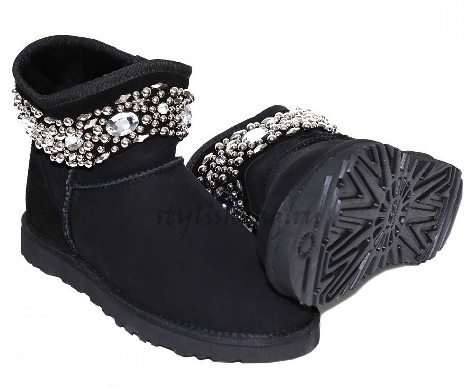 Женские угги UGG Jimmy Choo Multicrystal Black