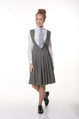 Школьная юбка-сарафан для школы Кембридж (ШФ-1380)