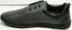 Перфорированные мокасины туфли мужские кожа Ridge Z-430 75-80Gray.
