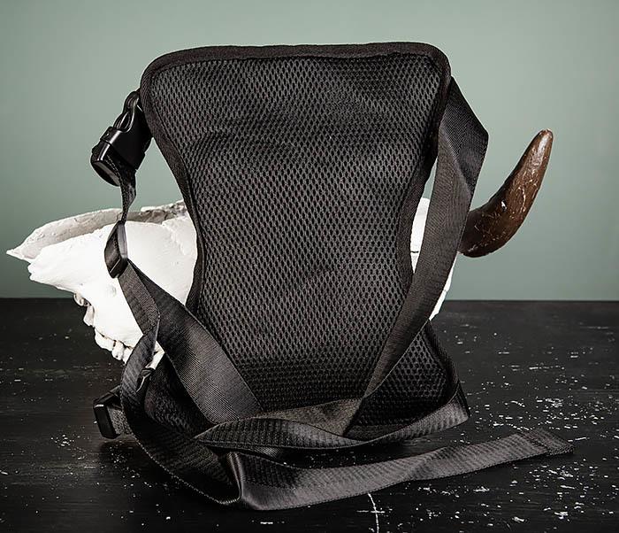 BAG397-1 Набедренная сумка черного цвета из ткани «Оксфорд» фото 05