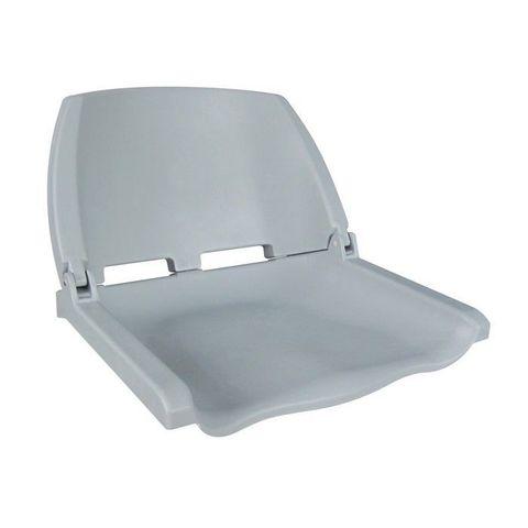 Сиденье пластмассовое складное Folding Plastic Boat Seat, серое