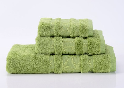 Bamboo PR-4 зеленое бамбуковое махровое  полотенце Valtery