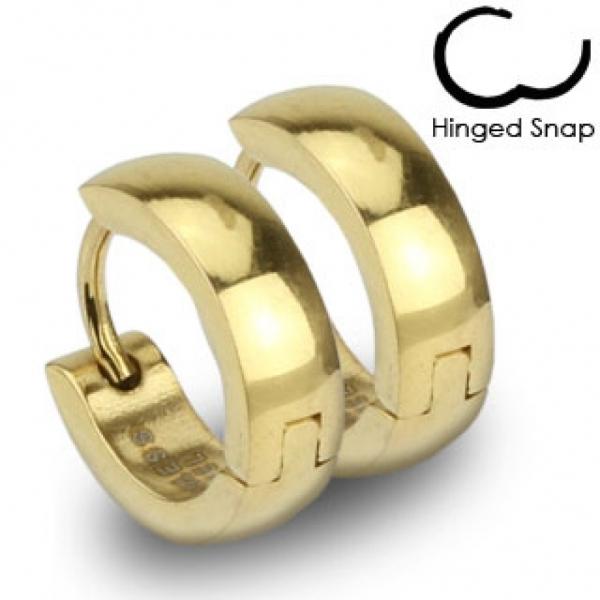 Мужские серьги кольца из нержавеющей ювелирной медицинской хирургической стали 316L SPIKES SE2408