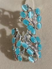 Марель (кольцо + серьги из серебра)