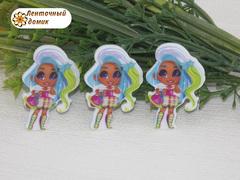 (6)Пластиковый кабошон Hairdorables Гармония с сумочкой