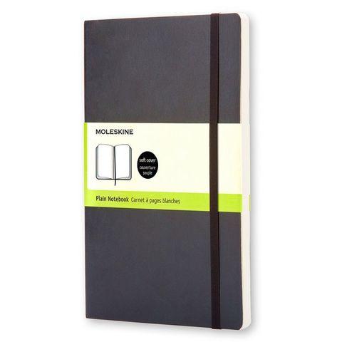 Блокнот Moleskine CLASSIC SOFT QP618 Large 130х210мм 192стр. нелинованный мягкая обложка черный