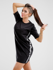 Платье NEBBIA Playful Restday Oversized dress 522 BLACK