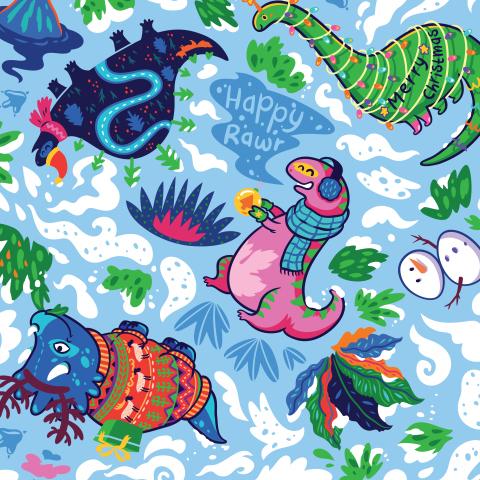 Рождественские динозавры