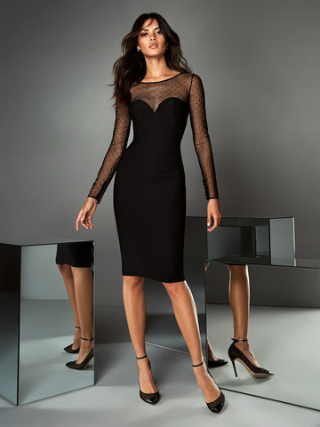 Вечернее платье коктейльное черное