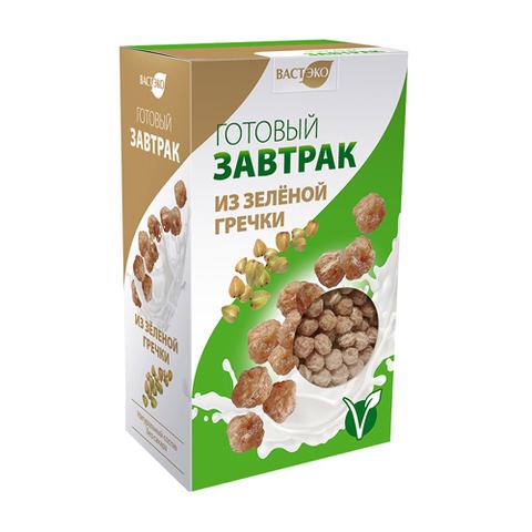 Готовый Завтрак Шарики из Зеленой гречки 170г Вастэко