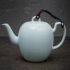 Фарфоровый чайник с голубой глазурью 190 мл