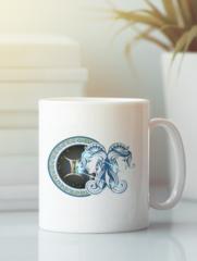 Кружка с изображением Знаки Зодиака, Близнецы (Гороскоп, horoscope) белая 001
