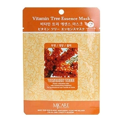 MIJIN Маска тканевая облепиха Vitamin Tree Essence Mask