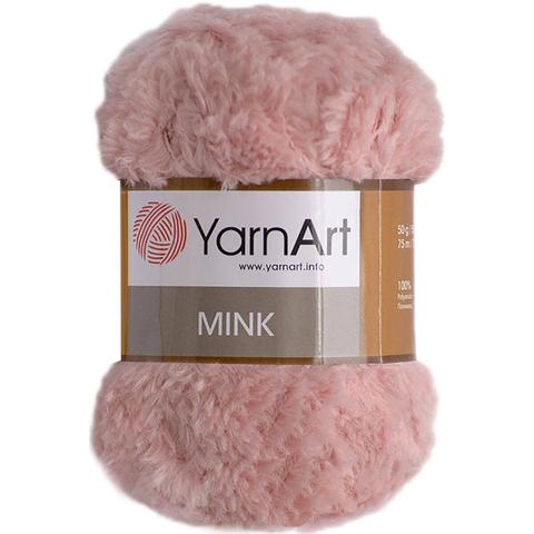 Пряжа YarnArt Mink - (341- розовый)