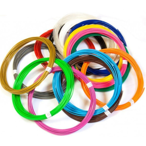 Набор Пластика (PLA) для 3Д Ручки 20 цветов.