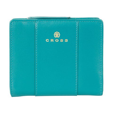 Женский кожаный компактный кошелёк 11х9,5х2см CROSS Kelly Wall Turquish AC928083_1-28