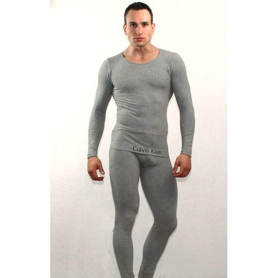 Мужское термобелье неутепленное серое Calvin Klein Grey 365