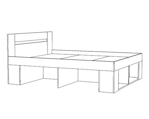 Кровать БЕЛЛРОК-2-2000-1400 /2036*900*1436/