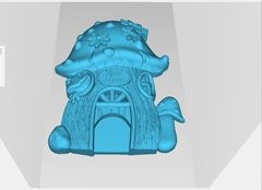 Силиконовый молд  № 423 Домик Гриб  2 D ( серия домики для гномов и фей)
