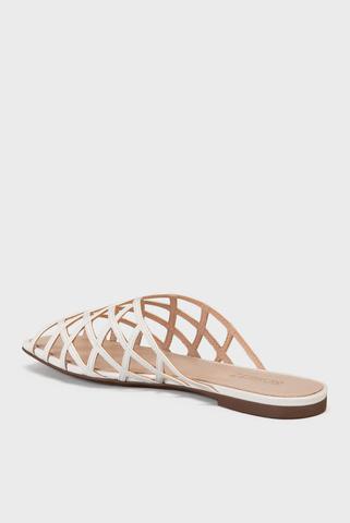 Женские белые сандалии Schutz