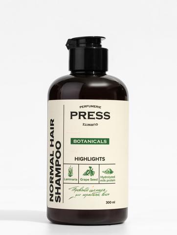 PRESS GURWITZ BOTANICALS Шампунь для ежедневного ухода с ароматом бергамота и розмарина, натуральный, бессульфатный 300 мл