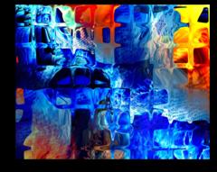 """Постер """"Абстрактное стекло"""""""