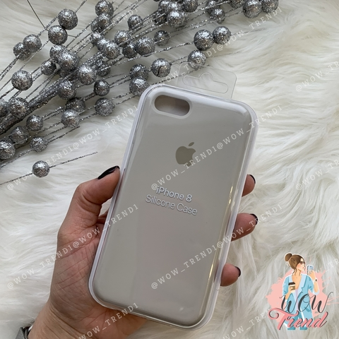 Чехол iPhone 7/8 Silicone Case /stone/ светло-серый original quality