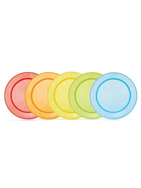 Набор тарелок цветных пластиковых тарелок 5 шт. Munchkin