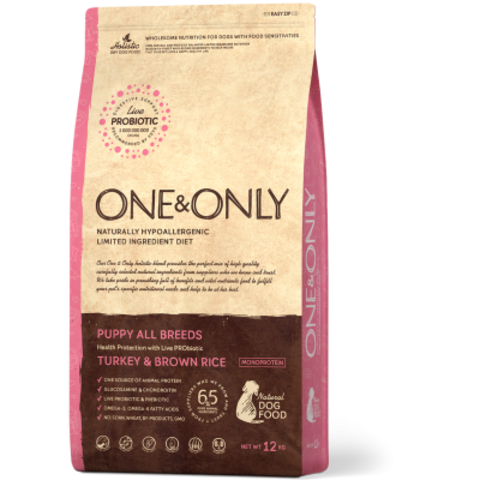 One&Only Turkey & Brown Rice Puppy All Breeds - 12 кг