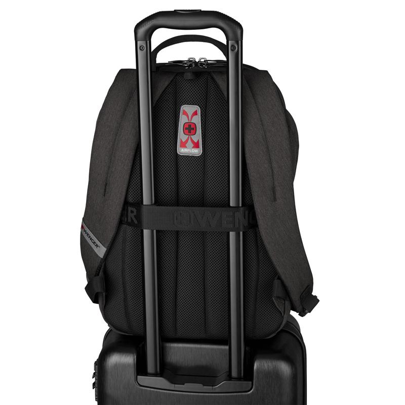 Рюкзак WENGER MX Light с отделением для ноутбука, цвет тёмно-серый, 44х31х20 см., 21 л. (611642) | Wenger-Victorinox.Ru