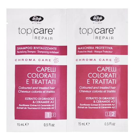 Пробник оживляющий шампунь для окрашенных волос/восстанавливающая защитная маска для окрашенных волос (15+15 мл)