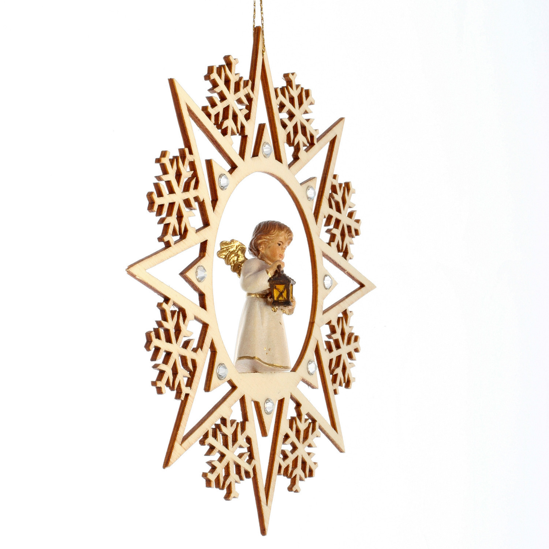 Ангел с фонарем со стразами Сваровски