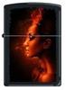 Зажигалка Zippo Burning woman, латунь с покрытием Black Matte, чёрная, матовая, 36x12x56 мм