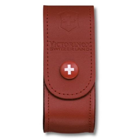 Чехол Victorinox (4.0520.1B1) для 91мм толщина 2-4 ур кожа красный блистер