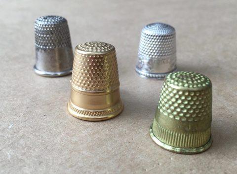 Наперсток металлический (бронза, серебро)