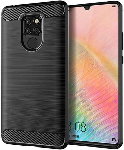 Чехол для Huawei Mate 20X цвет Black (черный), серия Carbon от Caseport