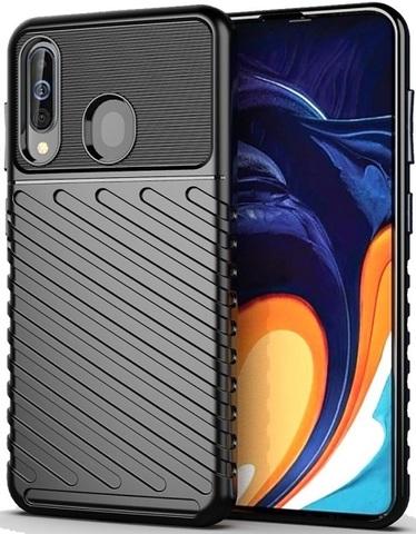 Чехол для Samsung Galaxy A60 (Galaxy M40) цвет Black (черный), серия Onyx от Caseport