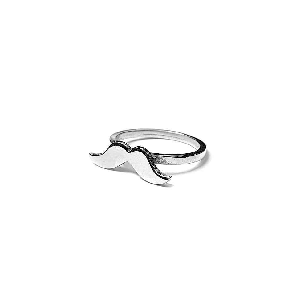 Mustache Ring, Sterling Silver