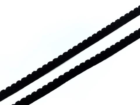 Резинка отделочная черная 8 мм Lauma