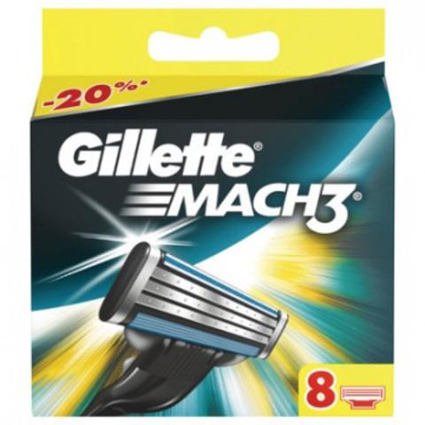 Сменные кассеты для бритья MACH3 8шт