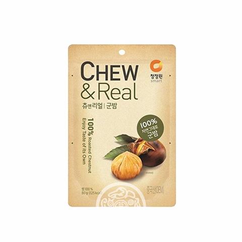 Жареные каштаны Chew&Real Roasted Chestnut очищенные 80г Daesang Корея
