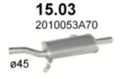глушитель Nissan Sunny 86-90 N13 HB