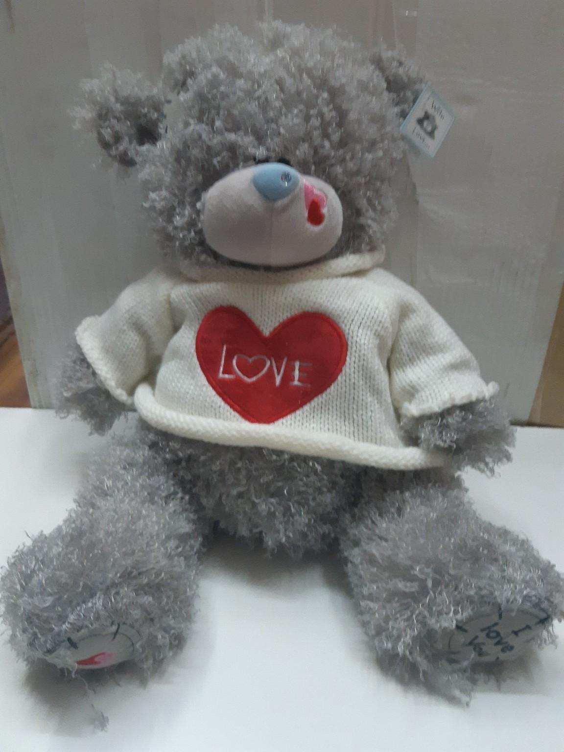 Мишка Тедди в свитере с сердечком в двух расцветках