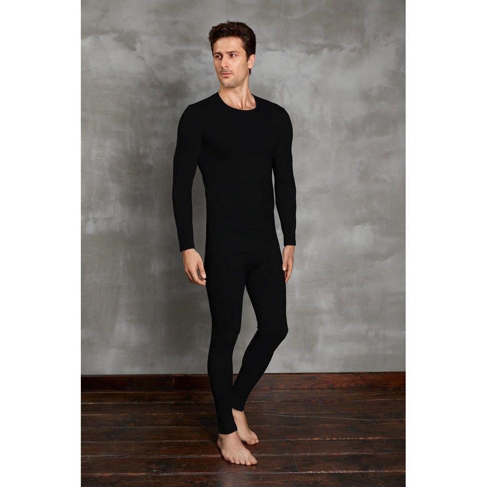 Мужская футболка с длинным рукавом термо Doreanse черная 2990
