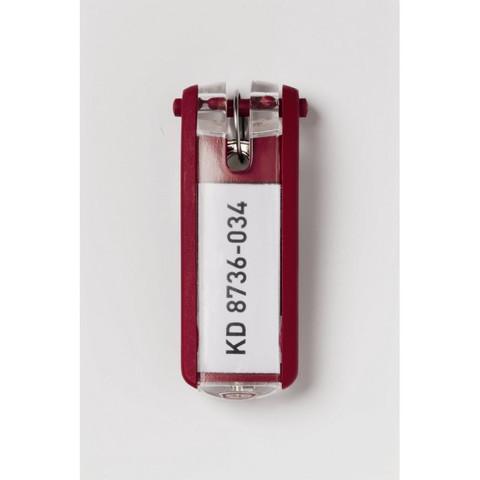 Набор брелков на ключи Durable Key Clip красные (6 штук)