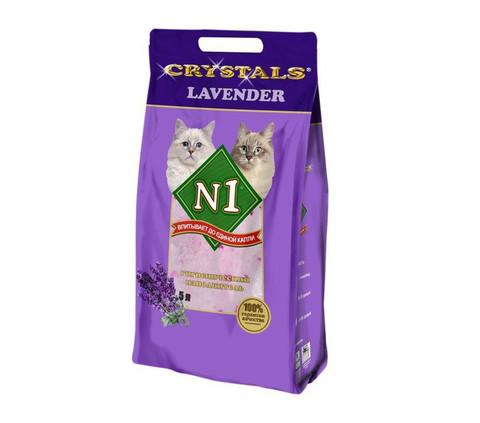 Впитывающий силикагелевый наполнитель N1 Crystals Lavender 5 л