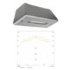 Ударопрочные светильники рабочего аварийного и эвакуационного освещения STAMINA Line IP65 LOWBAY Teknoware с диаграммой светораспределения