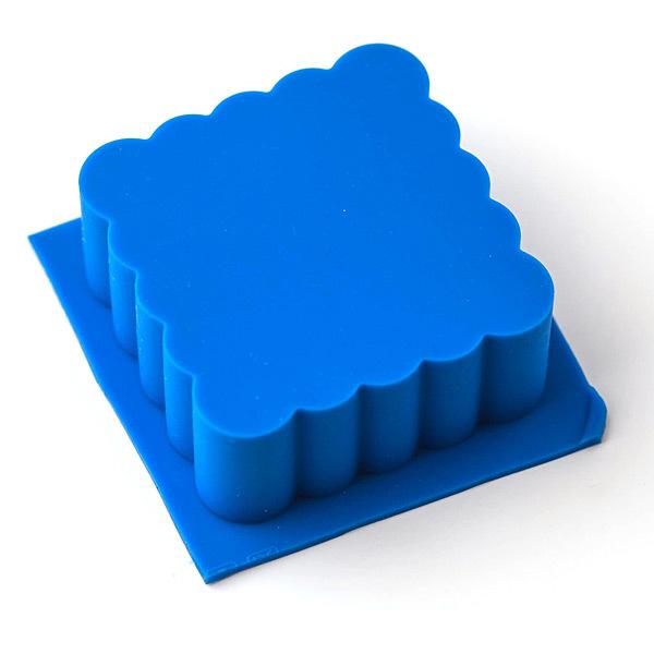 Силиконовая форма для мыла Квадрат волнистый
