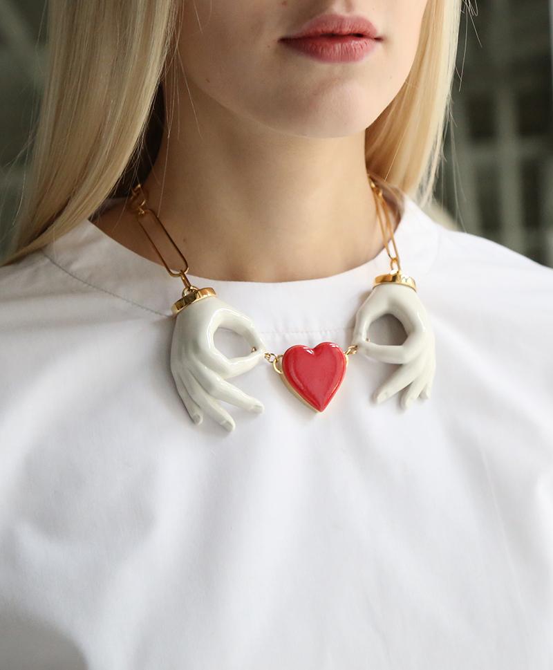 Колье Heart Couple Hand