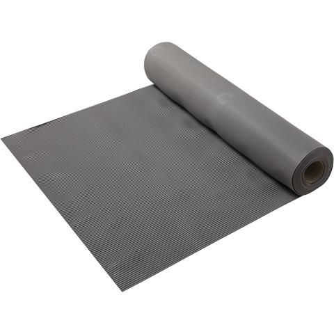 Коврик-дорожка против скольжения Полоска, серый, 2,3 мм, 0,9*10 м